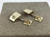 Gold Diamond Cuff Links 14K Yellow Gold 9.17g